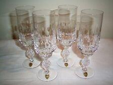 4 x  Poschinger Sektglas Sektflöte Kristallglas handgearbeitet / Ananas Stiel