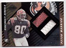 Peter Warrick Bengals 2000 Leaf Limited Rookie Card Jersey/Ball #407 NFL #/1000