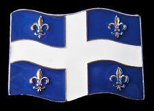 Quebec Flag Buckle Belle Province Drapeau Fleur Lys Belt Buckles Boucle Ceinture