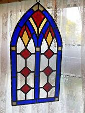 Stained Glass Panel, Church window Suncatcher, Handmade in England