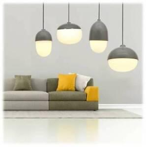 BLINK, Nut Pendant Light Range, Wood Look, Grey, Copper