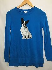 New Crown & Ivy Boston Terrier Dog Thin Sweater Womens Large