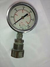Vintage Psi Bar 100 x kPa 0-300 Oil Filled Gauge Industrial Tools Workshop Spain