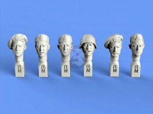 Royal Model 1/35 Italian Soldier and Officer Heads Set WWII No.1 (6 Heads) 863