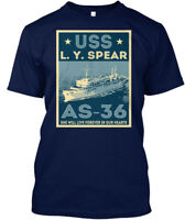 Uss L. Y. Spear As-36 - You. She Will Love Forever In Hanes Tagless Tee T-Shirt