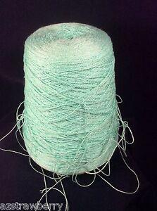 Machine Knitting Cone Spool Yarn Weaving Loom Thread Color Aqua 1 lb 8 oz