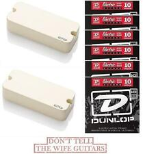 EMG P81 + P60 IVORY SET P-90 STYLE HOUSING ACTIVE PICKUP ( 6 SETS OF STRINGS )