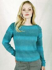 Knitting pattern Ladies sweater, jumper, pullover in DK. Bust 32 to 50 ins.