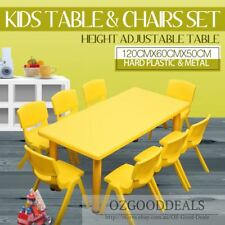 Large Kids Toddler Children Activity Yellow Table and 4 Yellow Chairs 120x60cm L