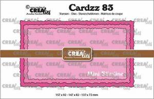Stanz-schablone Cutting die Mini Slimline gezackter Bütten-Rand CREAlies CLCZ83