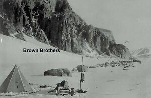 1914 Explorer Ernest Shackleton Ice Camp Cape Royds Glass Photo Negative #1
