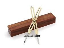 Brass Proportional 9'' Divider Marine Navigation With Wooden Box