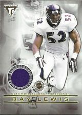 2001 Pacific Titanium - Bryan Cox / Ray Lewis - Dual Game Used Jersey - #49