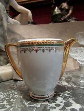 ancien pot a lait en porcelaine de limoges style empire laurier epoque 1940 doré