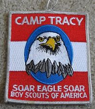 BOY SCOUT embroidered patch CAMP TRACY Bald Eagle SOAR EAGLE SOAR