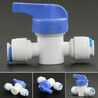 """Equal Straight Quick Connect Tube Ball Valve 1/4"""" Water OFF ON for Aquarium"""
