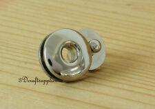 Magnetic Snaps bag button purse Magnetic Snaps button 5 PCS 17 mm silver F49x5