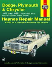 Reparaturhandbuch Chrysler LeBaron, New Yorker, Fifth Avenue, 300, Newport 71-89