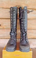 Timberland Black Leather Tall Lace Up Boots Women Size 8 1/2M