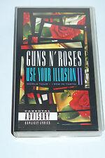 GUNS 'N ROSES - USE YOUR ILLUSION I (World tour) - VHS - OTTIME CONDIZIONI
