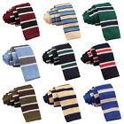 Difou Stripe Rayon Knit Neck Tie 3Color