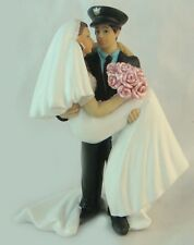 Police Officer & His Bride Wedding Cake Topper Cop Sheriff Deputy Law Enforce