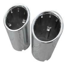 2x Premium Acero Inox. Tubos de Escape Original Calidad 67-73mm Muchas Vehículos