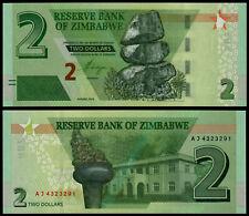 ZIMBABWE 2 DOLLARS (P NEW) 2019 (2020) UNC