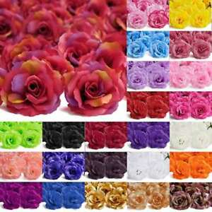 20pcs Artificial Flower Heads Big Rose 70mm Wedding Party Bridal Decor FBHS8
