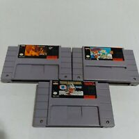 Lot Of 3 Super Nintendo SNES Games Cartridges Only Tecmo Super Bowl, Mario...