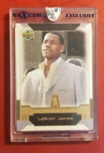 2003/2004 Upper Deck NAXCOM Exclusive Uncirculated LeBron James ROOKIE COMBINED