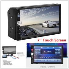 "2Din 7"" HD Touch Screen Car Bluetooth FM Radio Stereo Audio Video MP5 MP3 Player"