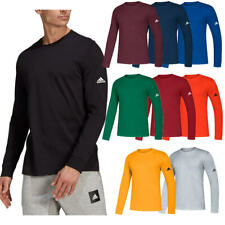Adidas Masculino ir para o desempenho Climalite Camiseta Manga Longa ativo Sport T-shirt