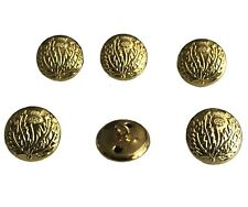 Thistle Brass Buttons gold colour size: 22mm  ( 6 Pieces)