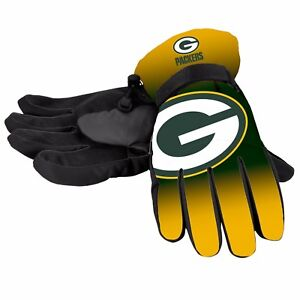 Green Bay Packers Gloves Big Logo Gradient Insulated Winter NEW Unisex S/M L/XL