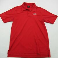 Oakley Mens Polo Shirt Red Short Sleeve Medium Performance Golf Legacy Ridge