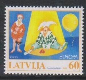 Latvia - 2002, Europa, Circus stamp - M/M - SG 578