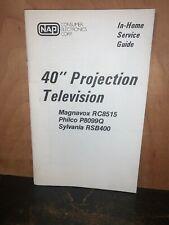 "Philco Magnavox Sylvania 40"" Projection Tv Service Guide Schematics Etc."