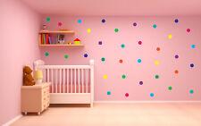 Polka Dot Pegatinas de Pared Calcomanía Decoración para el hogar Childs Niños Vinilo Arte Mural 45 un. puntos