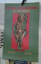 AFFICHE ANCIENNE FESTIVAL INTERNATIONAL MUSIQUE CHANT TOULOUSE 1950 J FAUCHE