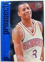 1996 96-97 Upper Deck SP Allen Iverson Rookie RC #141, HOF 76ers, The Answer