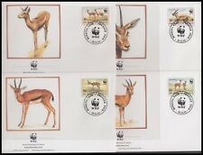 BURKINO FASO 1993 WWF GAZELLA RUFIFRONS FDC's (x4) BIRDS (ID:563/D36406)