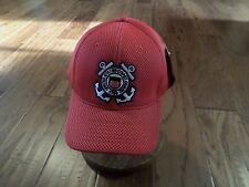 New U.S Coast Guard Hat Air Mesh 3-D Embroidered Cg Red Baseball Cap