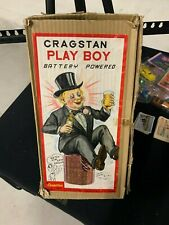 Vintage Cragstan Playboy Battery Operated Toy In Original Box-WORKING