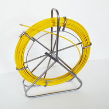 NEW 8mm Fish Tape Fiberglass Reel Wire Cable Puller Duct Rodder #170547