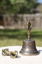 Tibetan Brass Bell with Dorje EX Large