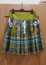NEW SINEQUANONE FLARE SKIRT, MULTI COLOR, EUR T38, US 8, 100% COTTON FROM FRANCE