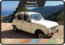 Renault 4 TL savane - reproduction kit complet autocollant stickers decals