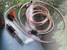 ITEM.015 A650 Carbon Rhodium 6.3mm Sennheiser HD650 HD600 OCC Cable Copper