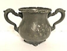 New listing Monarch Silver Co. Two Handled Sugar Bowl Floral Etched Relief Quadruple 596